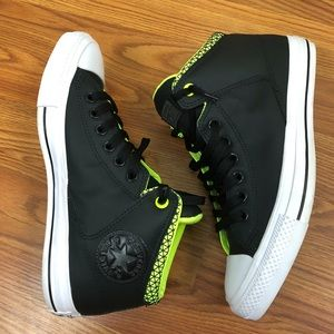 Converse All Star Unisex Shoes Black and Green
